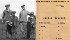 Photo of young caddies and caddy charges in the 1920s.